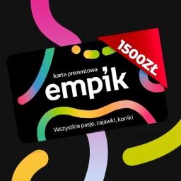 Karta podarunkowa o wartości 1500 zł do Empiku